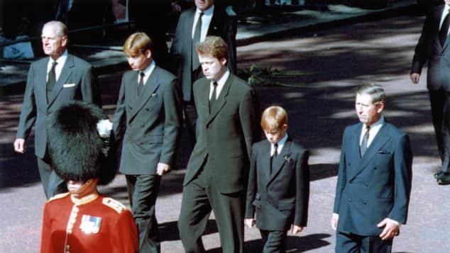 Prinz Philip, Prinz William, Prinz Harry und Prinz Charles