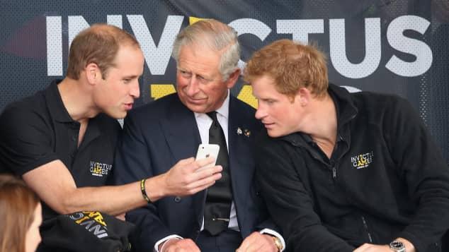 Prinz William, Prinz Charles und Prinz Harry