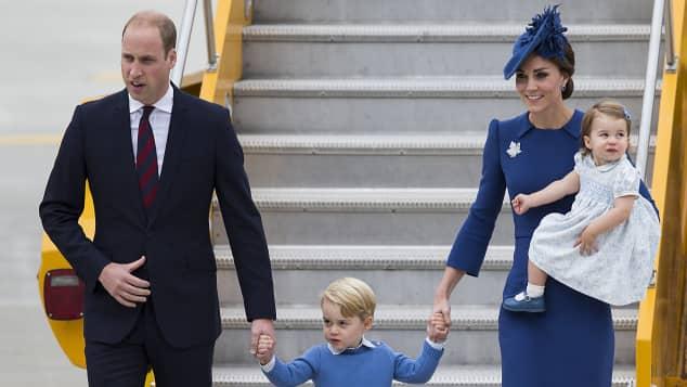 Prinz William, Prinz George, Herzogin Catherine und Prinzessin Charlotte