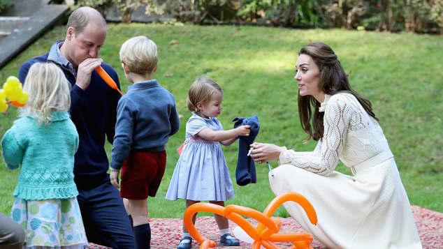 Prinz William, Prinz George, Prinzessin Charlotte und Herzogin Catherine
