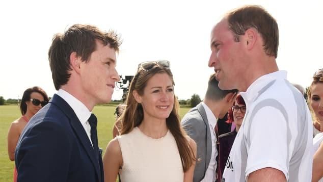 Prinz William und Eddie Redmayne