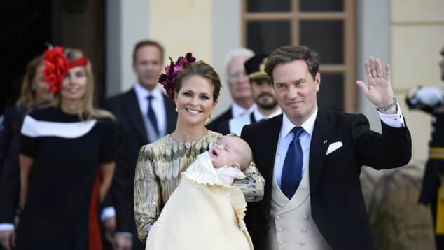 Prinzessin Madeleine, Chris O'Neill und Prinz Nicolas