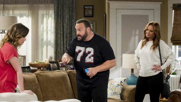 Taylor Spreitler, Kevin James und Leah Remini