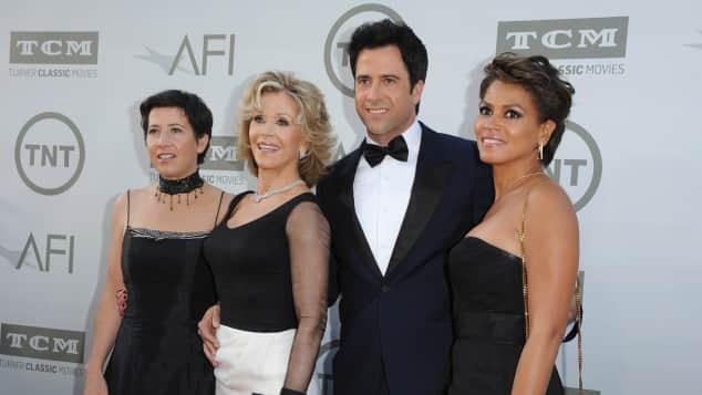 Vanessa Vadim, Jane Fonda, Troy Garity, Simone Garity