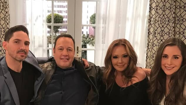 """King of Queens"" Kevin James und Leah Remini"