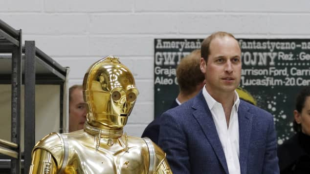 """C-3PO"" und Prinz William"