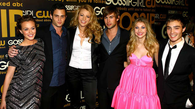 Leighton Meester, Penn Badgley, Blake Lively, Chace Crawford, Taylor Momsen und Ed Westwick