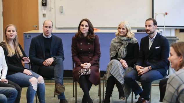 Herzogin Kate, Prinz William, Mette-Marit und Prinz Haakon