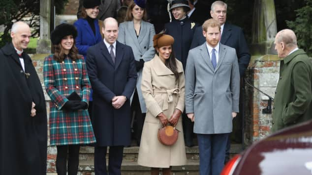 Meghan Markle, Prinz Harry, Prinz William, Herzogin Kate und Prinz Philip