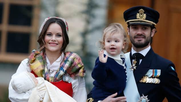 Prinz Carl Philip, Prinzessin Sofia und ihre Kinder Prinz Alexander und Prinz Gabriel