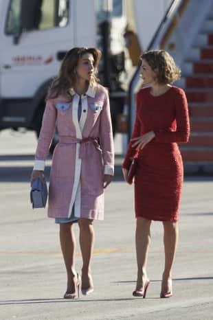 Königin Rania von Jordanien und Königin Letizia von Spanien