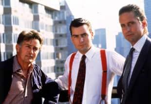 Martin Sheen, Charlie Sheen und Michael Douglas