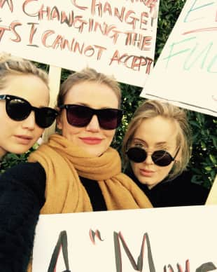 Jennifer Lawrence, Cameron Diaz und Adele