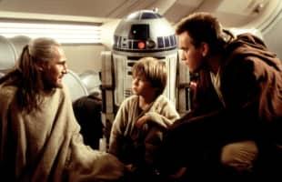 Liam Neeson, Jake Lloyd und Ewan McGregor