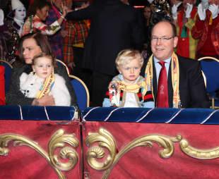 Stephanie von Monaco, Fürst Albert und die Zwillinge Prinz Jacques und Prinzessin Gabriella
