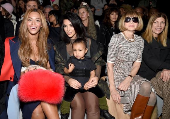 Beyoncé Knowles, Kim Kardashian, North West und Anna Wintour