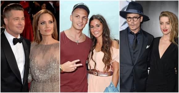 Brad Pitt und Angelina Jolie, Pietro und Sarah Lombardi, Johnny Depp und Amber Heard