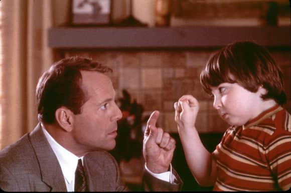 Bruce Willis und Spencer Breslin