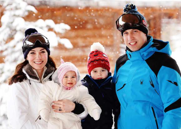 Herzogin Kate, Prinzessin Charlotte, Prinz George und Prinz William