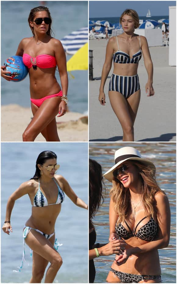 Paparazzi-Bilder von Stars im Bikini