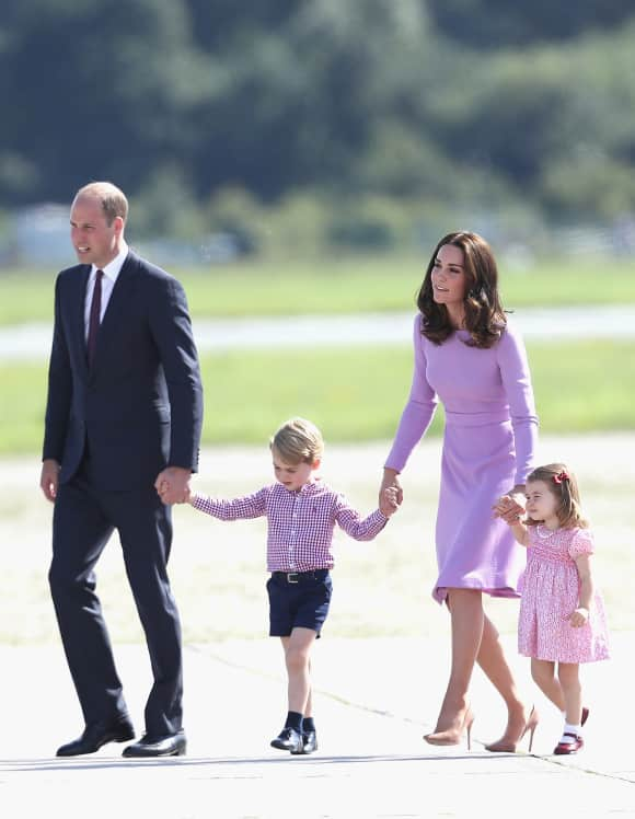 Prinz William, Prinz George, Herzogin Kate und Prinzessin Charlotte