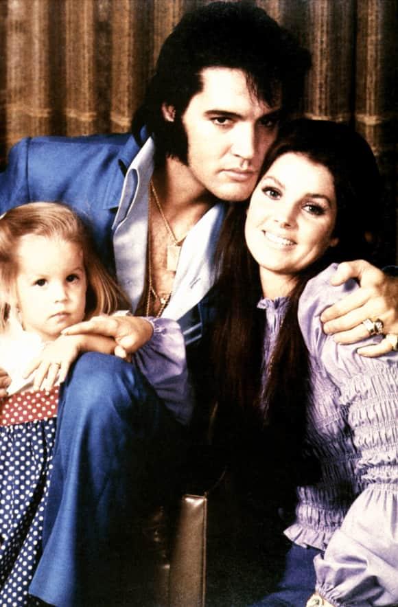 Priscilla, Elvis und Lisa Marie Presley