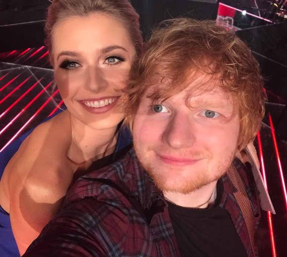 Lena Gercke und Ed Sheeran