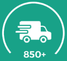 850+ shipment completed
