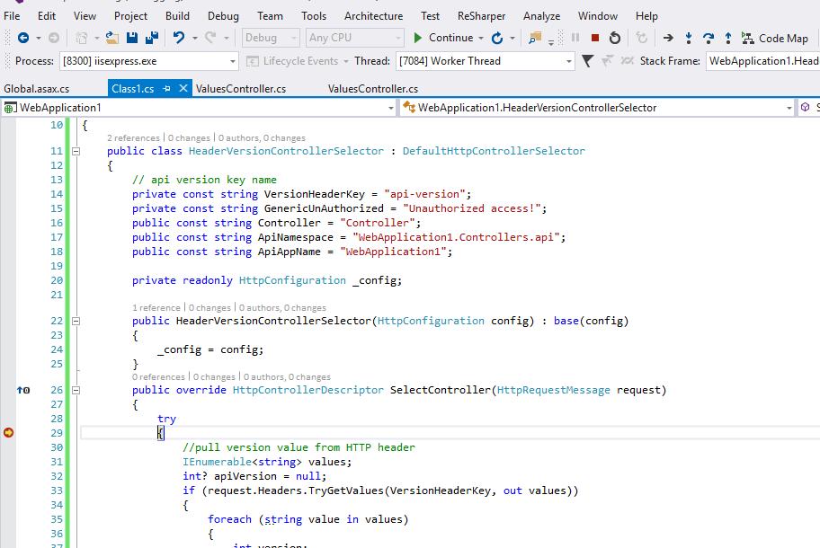 versioning debug point 1