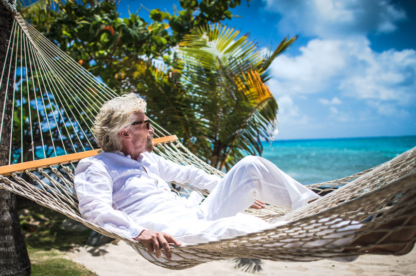 Richard Branson hammock