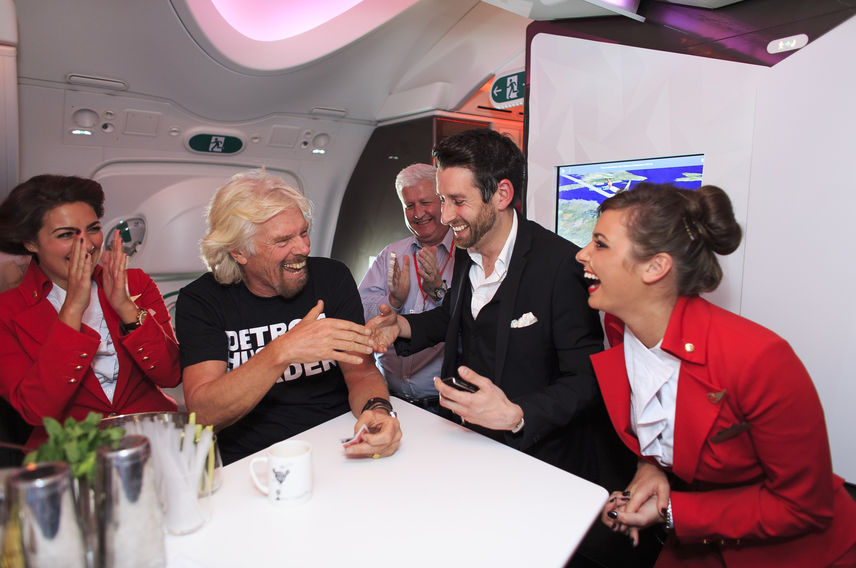 Richard Branson Virgin Atlantic Detroit