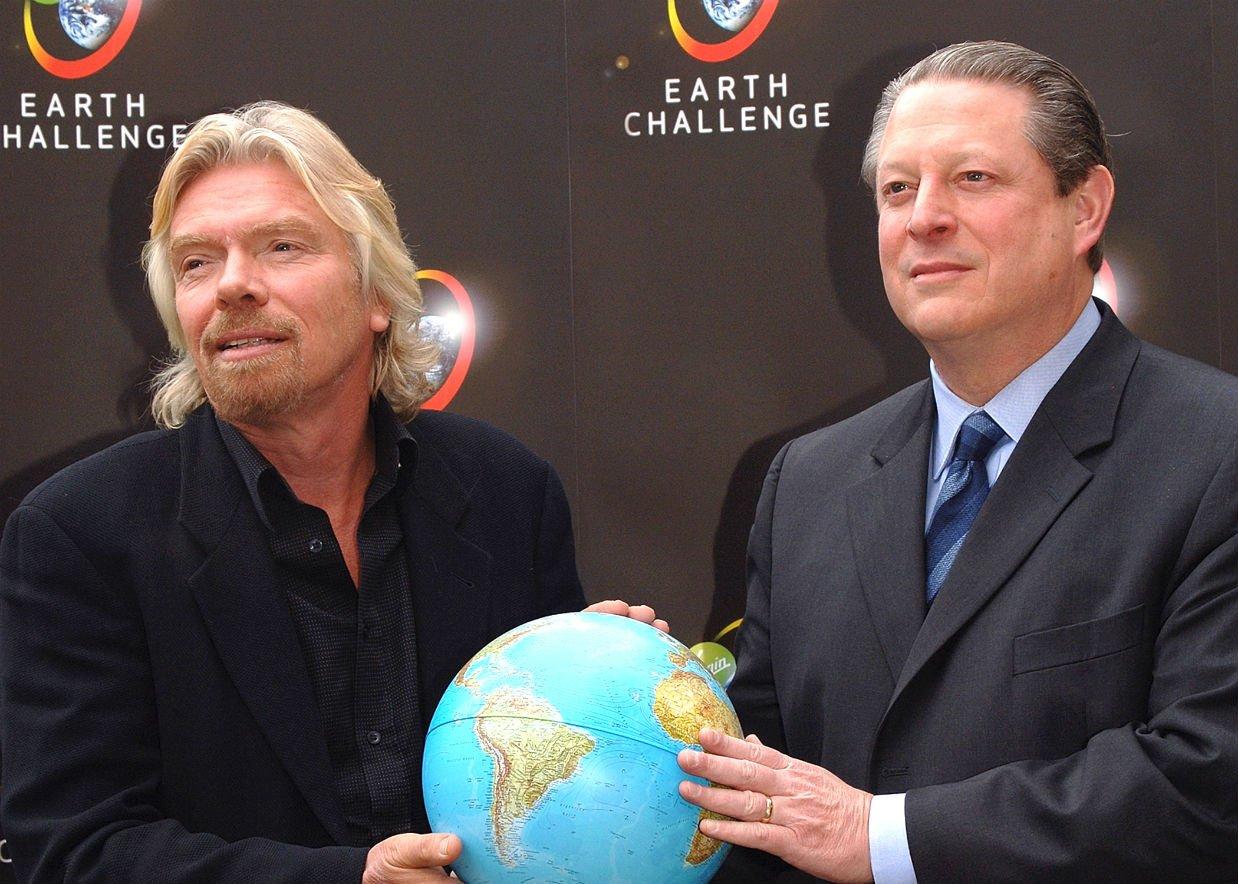 Earth Challenge Richard Branson and Al Gore