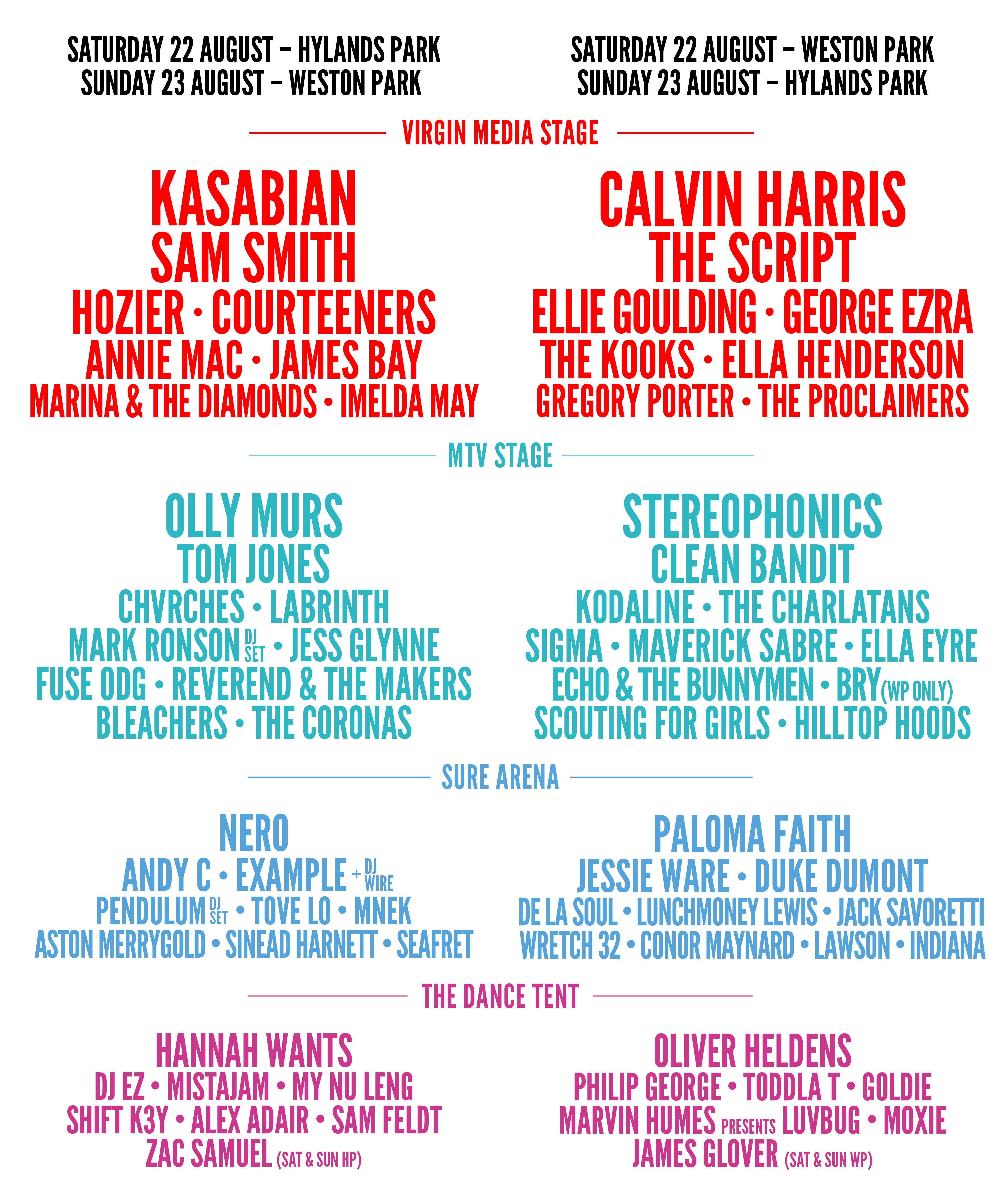 Line up for 2008 virgin fest
