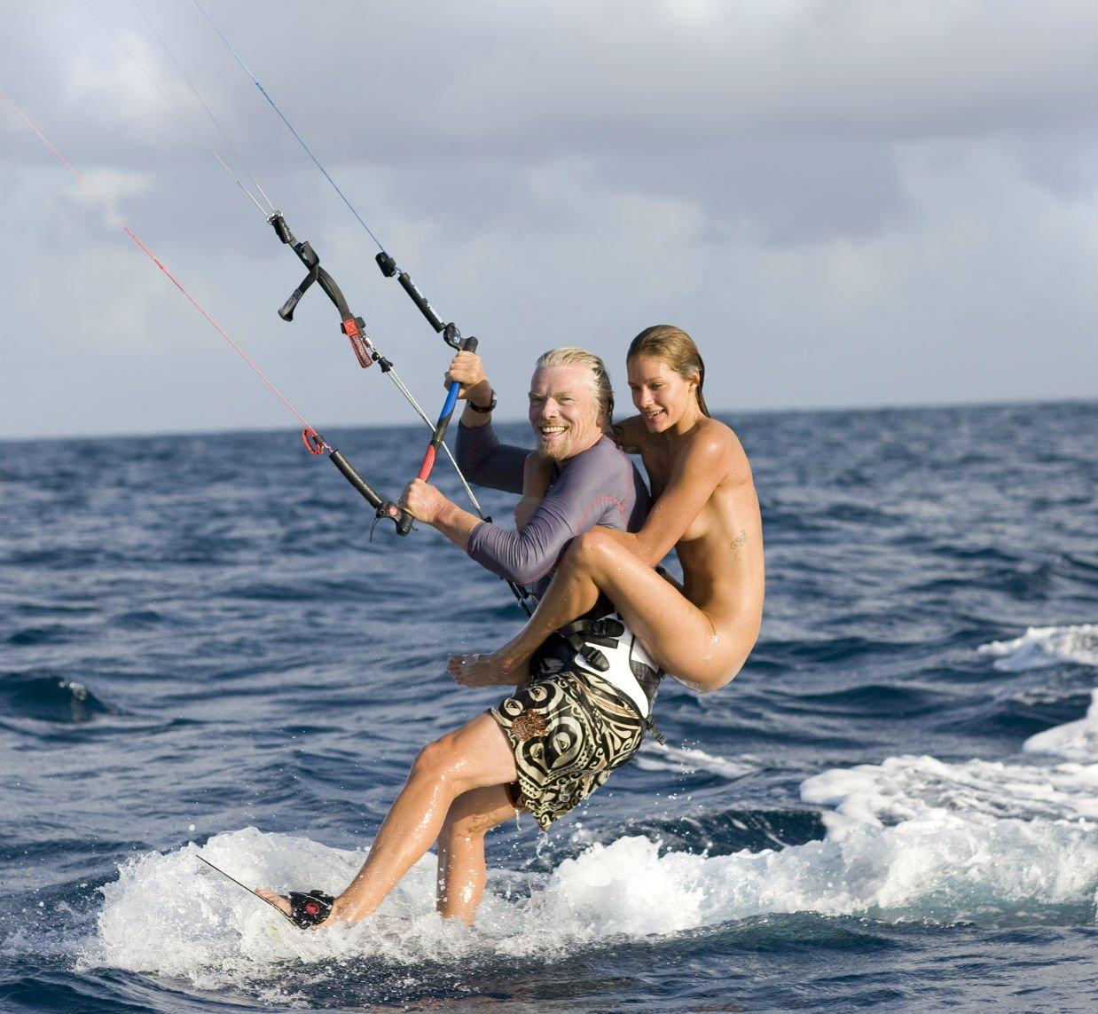 A little bit of friendly kitesurfing competition   Virgin