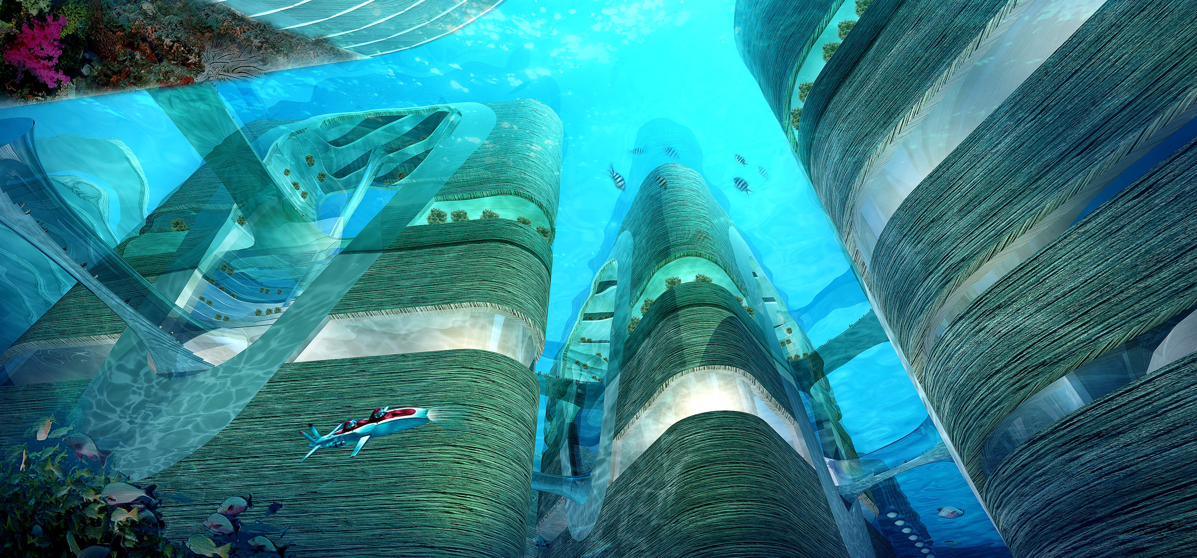 Images from ATDesignOffice Ltd. Atlantis  at last    See China s designs for underwater city   Virgin