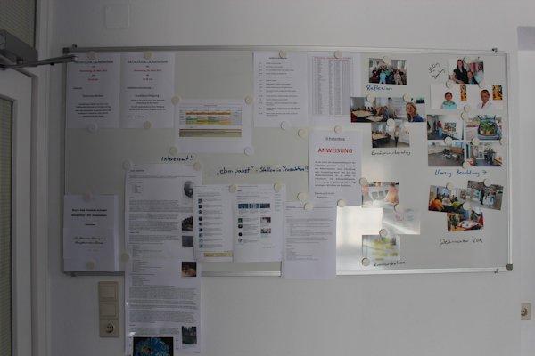 Interne Info-Tafel
