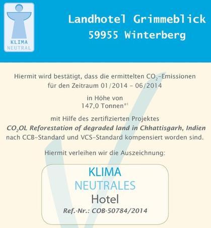 Klimaneutrales Hotel 2014