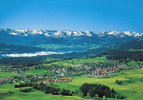 Scheidegg im Allgäu, über dem Bodensee