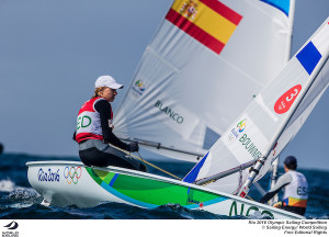 Bouwmeester in the box seat for Gold in the Laser Radial but all medals up for grabs