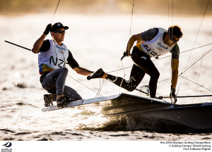 Burling and Tuke stay on top of 49er in Rio, while Outteridge and Jensen rue lost chances