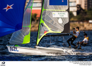 Burling and Tuke increase their lead in the Rio 49er