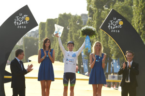 Orica-Bike Exchange Celebrate White Jersey As Yates Places 4th In Tour de France
