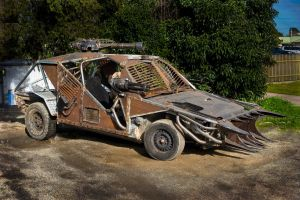 Cars transformed into artworks