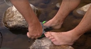 VIDEO: Hook Line and Sinker lads pull toenail with pliers