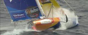 Watch St Michel Virbac in high winds to see how wet solo sailors get