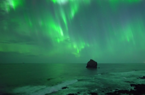 Drone captures the Northern Lights