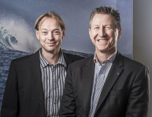 Outboard partners: Floris Lettinga, YMI global sales manager, and Lutz W. Lester, managing director Neander Shark.