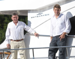 Keith and Ryan Hanson Whitehaven Motor Yachts.