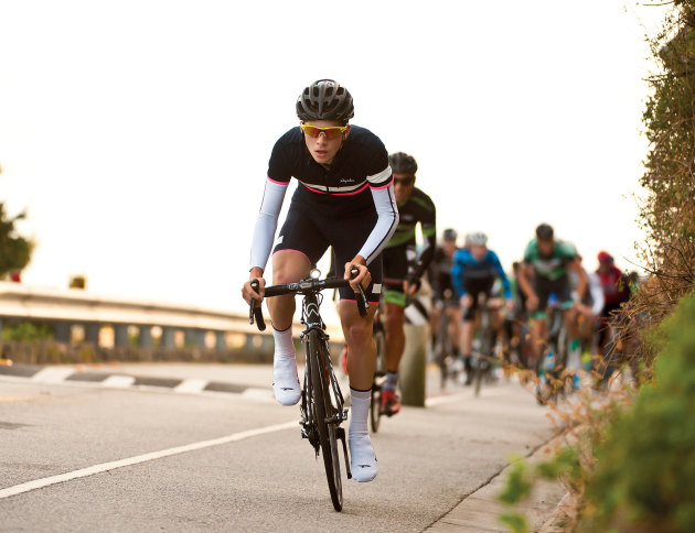 Get up out of the saddle when you have to punch over short climbs and through short, steep sections of a climb.