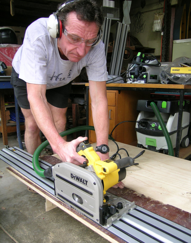 DeWalt track saw and Andrew Potocnik
